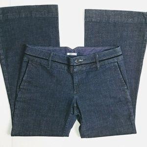 Banana Republic Classic Wide Leg Dark Wash Jeans